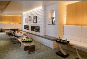 Waldorf Astoria Spa fireside lounge
