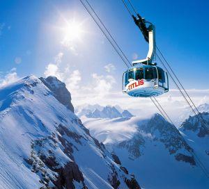 Berg Titlis, Rotair; Mountain Titlis, Rotair;