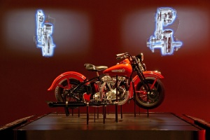 Harley-Davidson Museum ,Interior, June 16, 2008, M building, Engine Room, Exploded Bike